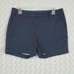Nautica Size 6 Polka Dot Shorts Navy Blue White